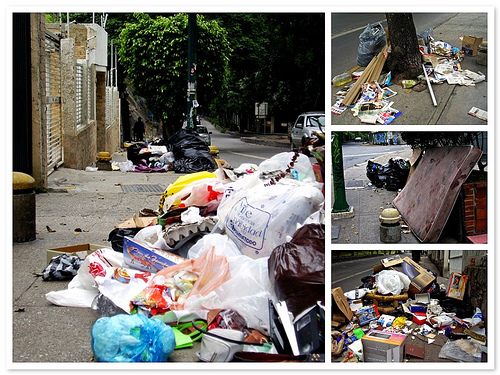 basura en la calle