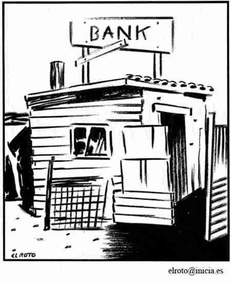 ruina de banco