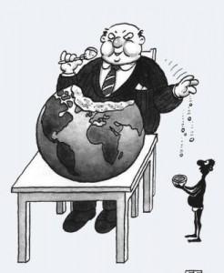 El mundo como pastel de la clase dominante