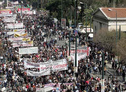 Huelga en grecia por la crisis