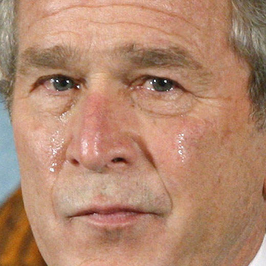 Bush llora por la muerte de un soldado