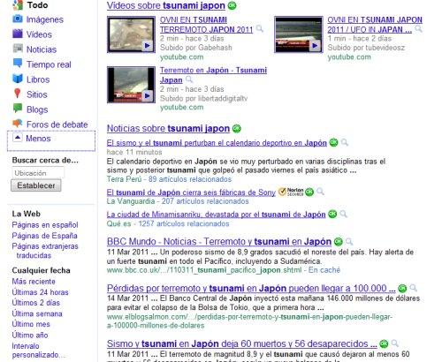 parametros de google